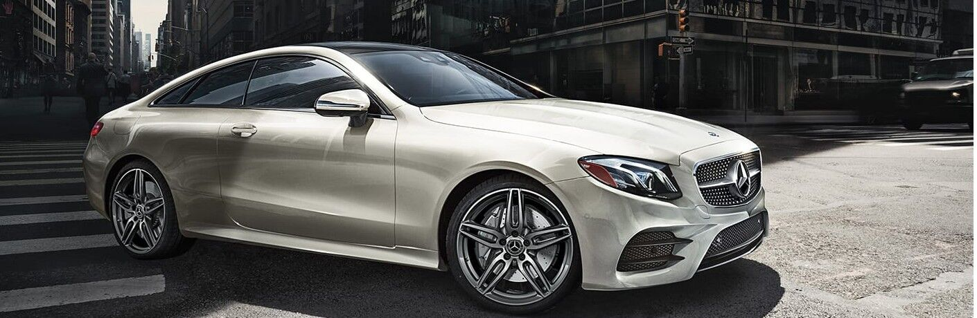 2020 Mercedes-Benz E-Class Coupe front and side profile