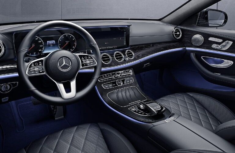 2020 Mercedes-Benz E-Class Wagon dashboard and steering wheel