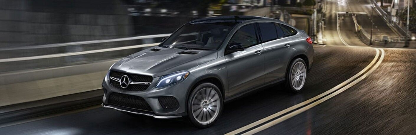 2020 Mercedes-Benz GLE Coupe driving on a road
