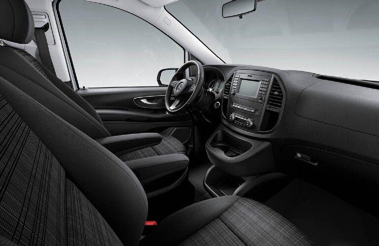 2020 Mercedes-Benz Metris Passenger Van front seats and dashboard