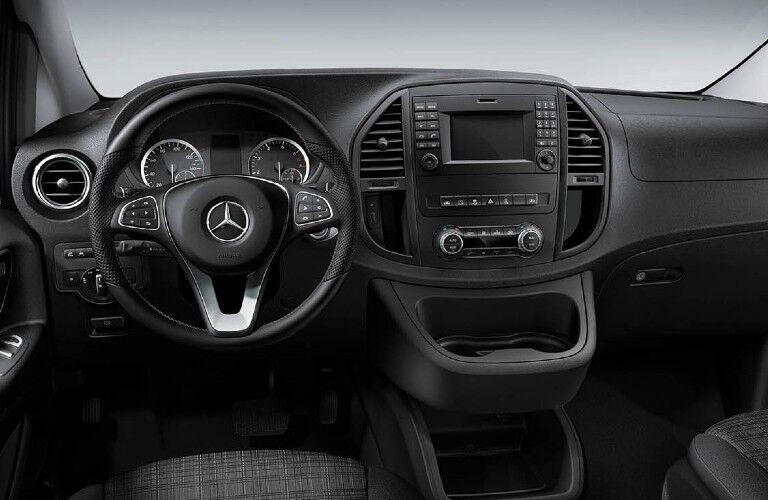 2020 Mercedes-Benz Metris Passenger Van dashboard and steering wheel