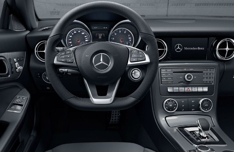 2020 Mercedes-Benz SLC Roadster dashboard and steering wheel