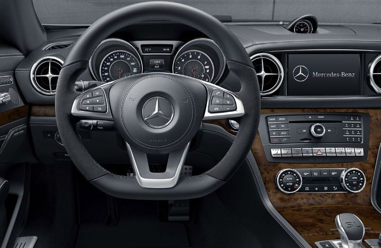 2020 Mercedes-Benz SL dashboard and steering wheel