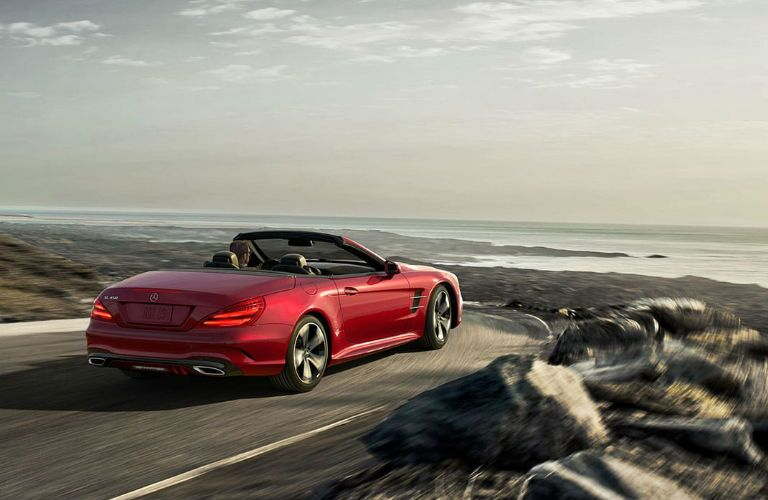 2020 Mercedes-Benz SL driving on a road