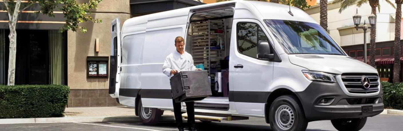 2020 Mercedes-Benz Sprinter Cargo Van with side door open