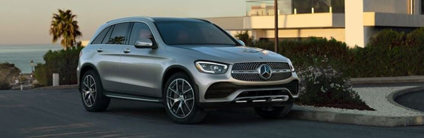 A 2021 Mercedes-Benz GLC parked outside