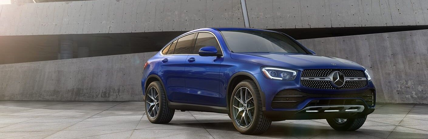 2021 Mercedes-Benz GLC Coupe front and side profile