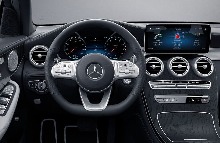 2021 Mercedes-Benz GLC Coupe dashboard and steering wheel