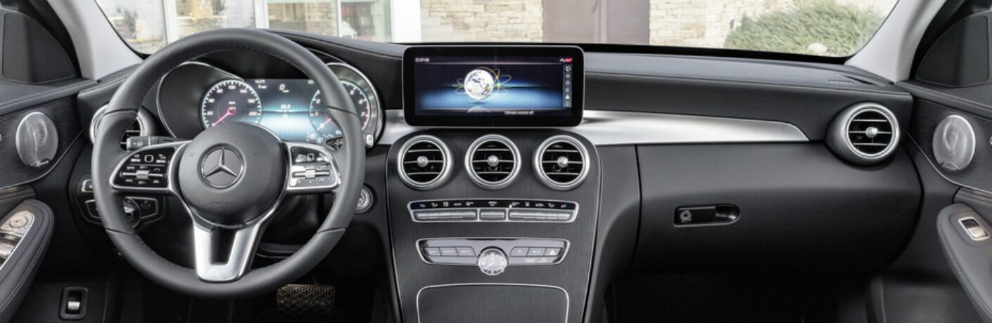 cockpit view in the 2019 Mercedes-Benz C-Class