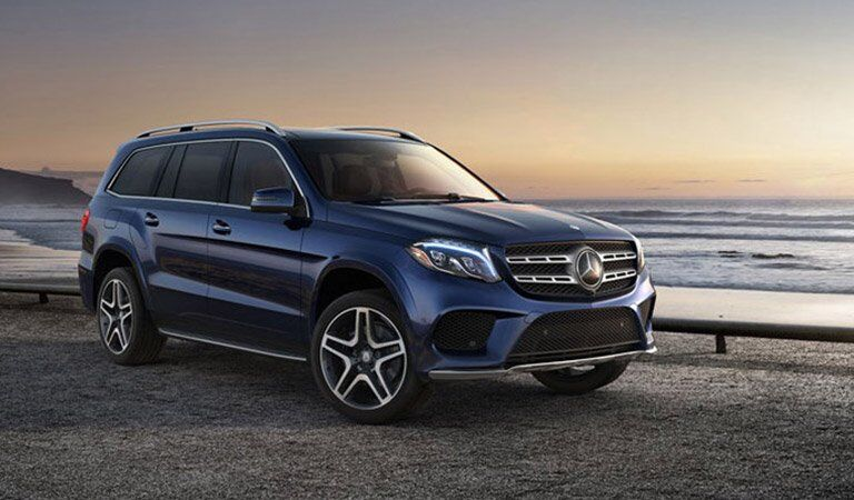 Mercedes-Benz GLS front and side profile
