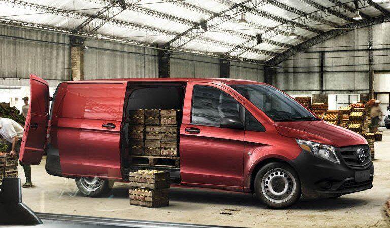Mercedes-Benz Metric Cargo Van with side door open