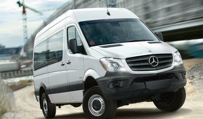 Mercedes-Benz Sprinter Passenger Van front and side profile