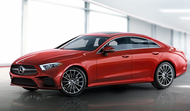 Mercedes-Benz CLS front and side profile