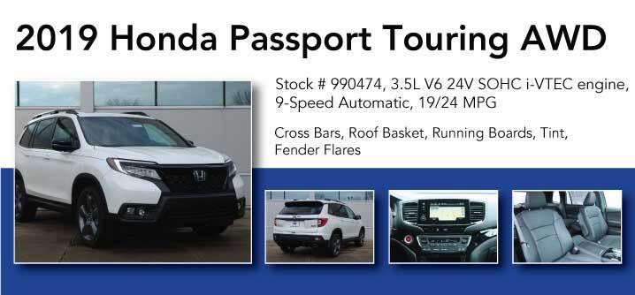 Don Jacobs Signature Series 2019 Honda Passport Touring AWD