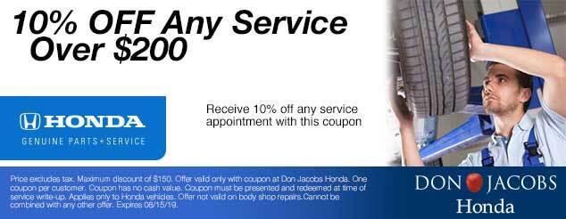 Don Jacobs Honda Service Coupon