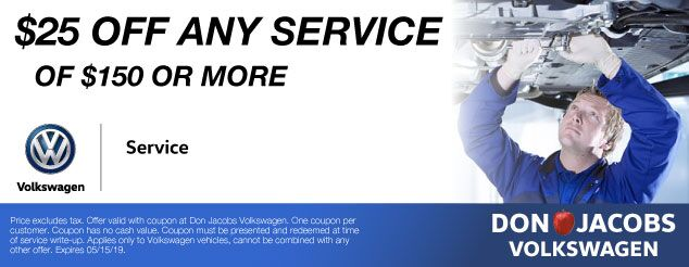 Don Jacobs Volkswagen Service Coupon