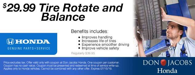 Don Jacobs Honda Service Coupon