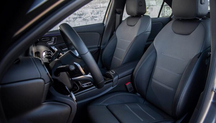 The spacious interior of the 2019 Mercedes-Benz A-Class