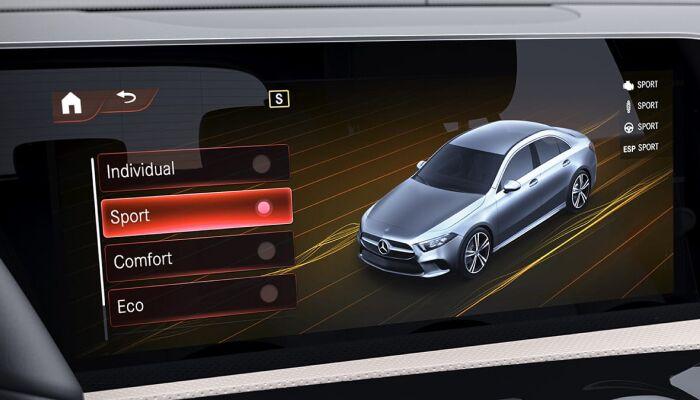 Touchscreen display inside the 2019 Mercedes-Benz A-Class