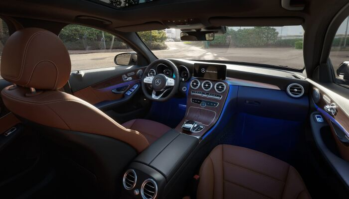 The luxurious interior of the 2019 Mercedes-Benz C-Class