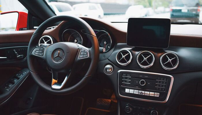 The luxurious interior of the 2019 Mercedes-Benz CLA