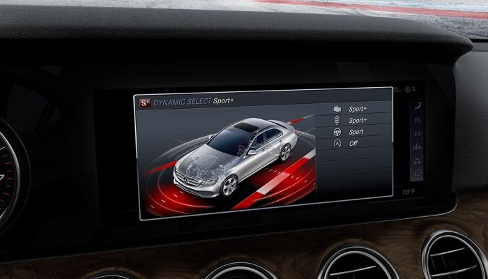 Touchscreen display inside the 2019 Mercedes-Benz E-Class