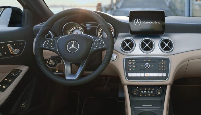 The spacious interior of the 2019 Mercedes-Benz GLA SUV
