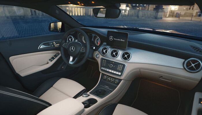 The spacious interior of the 2019 Mercedes-Benz GLA
