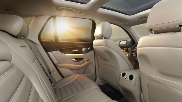 The back seat of the 2019 Mercedes-Benz GLC 300 Park Ridge, IL Loeber Mercedes-Benz