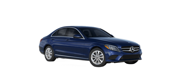 Mercedes-Benz C-Class in blue