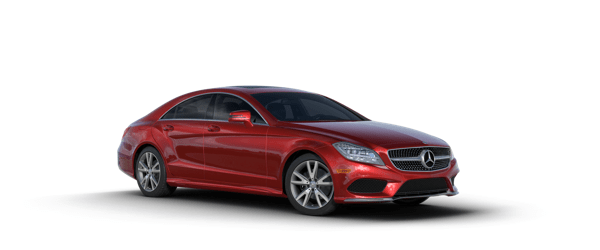 Mercedes-Benz CLS in red