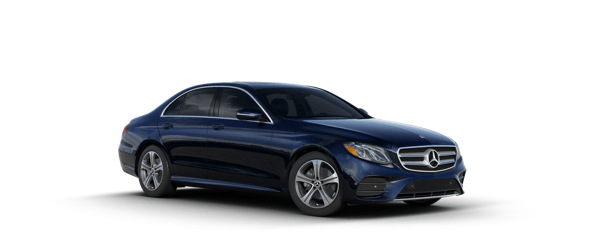 Mercedes-Benz E-Class in blue