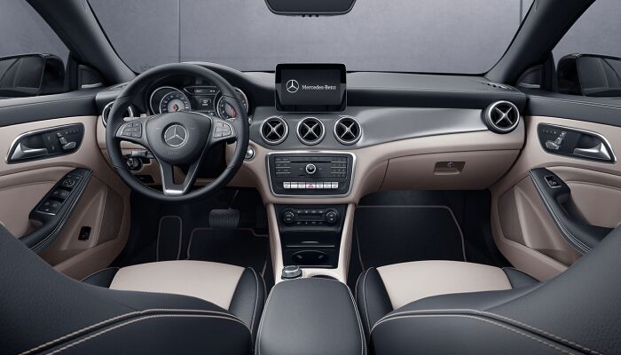 The stylish interior of the new 2019 Mercedes-Benz CLA 250