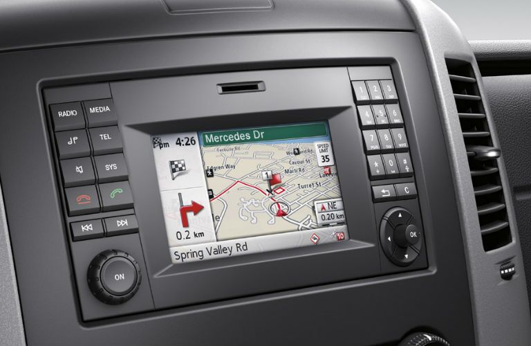Navigation Display in the 2016 Mercedes-Benz Sprinter Cab Chassis