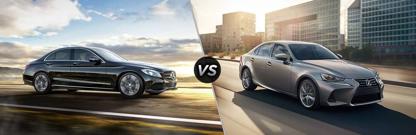 2017 Mercedes-Benz C-Class vs 2017 Lexus IS