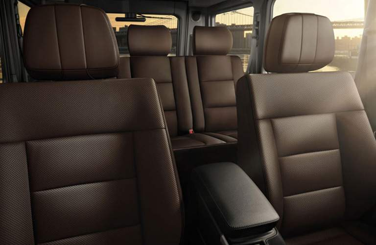 Interior view of the seats in the 2018 Mercedes-Benz G-Class