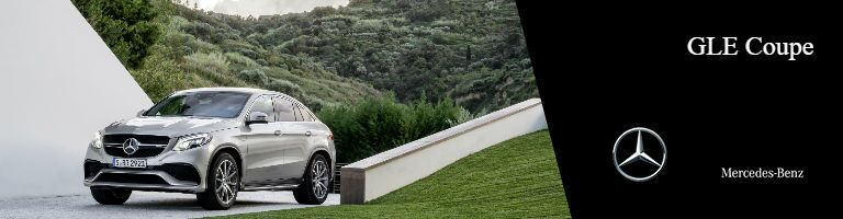2018 GLE Coupe in front of a grassy hill