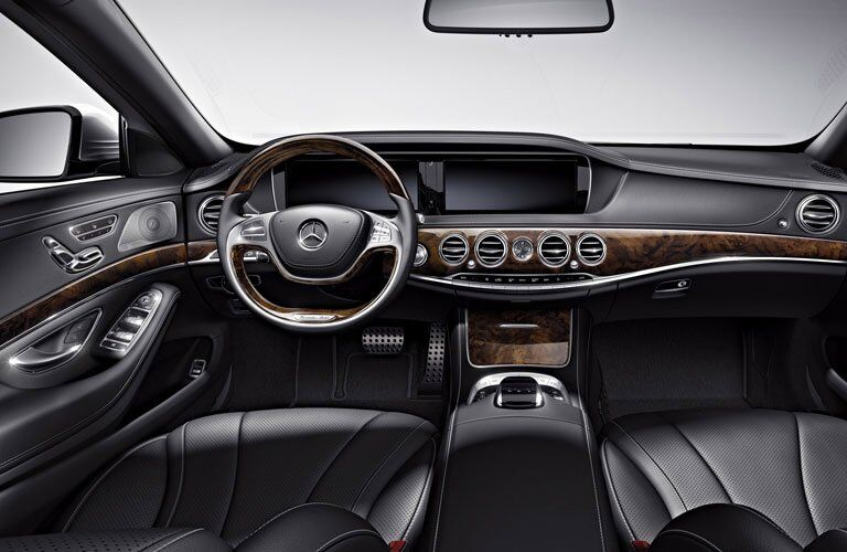 2017 mercedes-benz s-class interior wood trim steering wheel dual screens