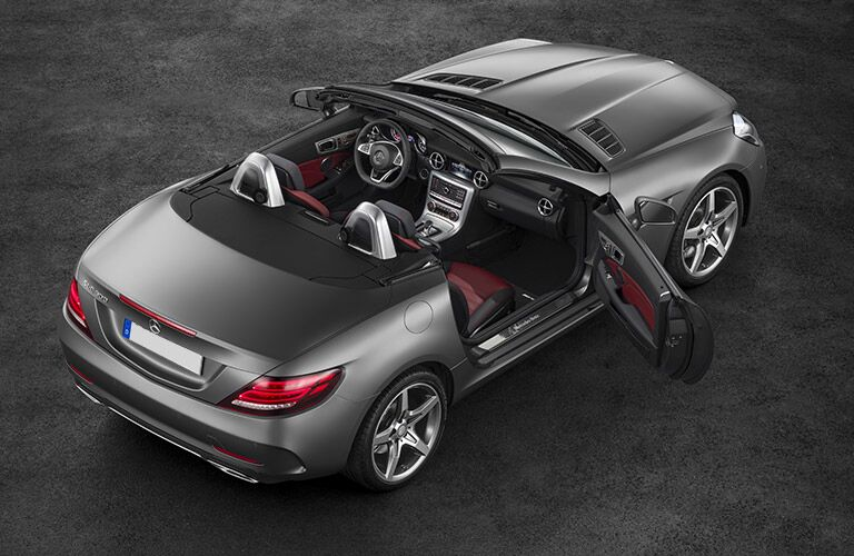 2017 mercedes-benz slc with doors open