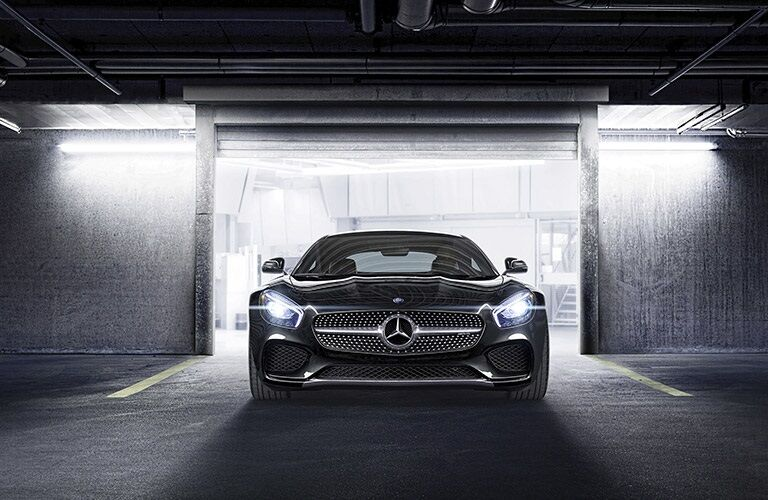 2017 Mercedes-Benz AMG® GT driving out of garage
