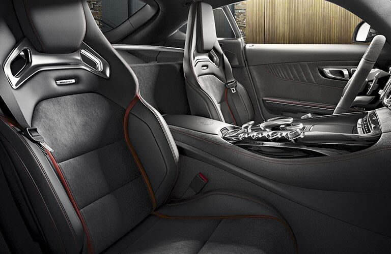 Interior front seats of the 2017 Mercedes-Benz AMG GT