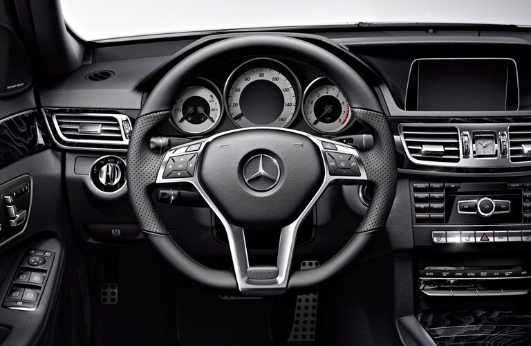 Steering wheel of 2017 Mercedes-Benz E-Class Wagon