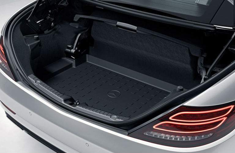 trunk space of the 2018 Mercedes-Benz SLC Roadster