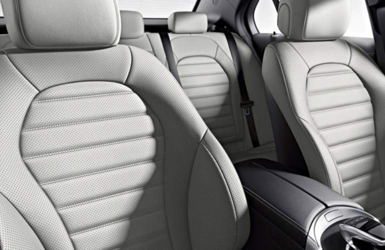 Interior seating of the 2018 Mercedes-Benz C-Class