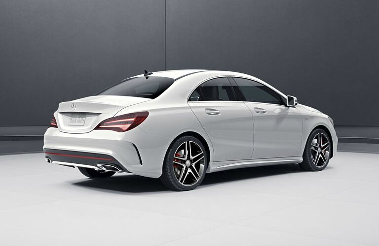 right side of a white 2018 Mercedes-Benz CLA