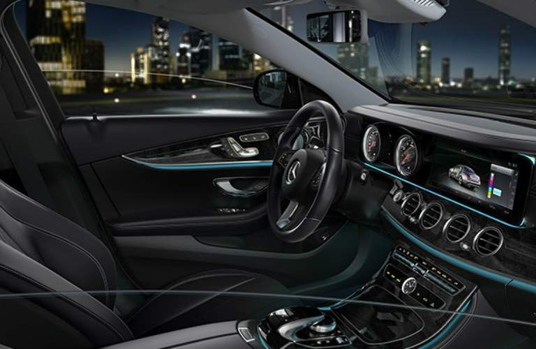 front seat interior of the 2018 Mercedes-Benz E-Class