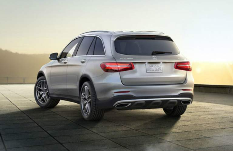 Rear view of silver 2018 Mercedes-Benz GLC