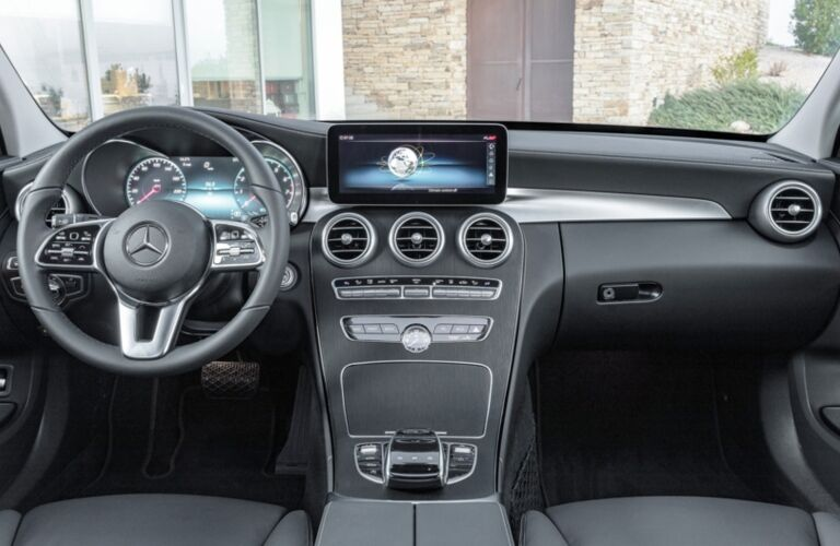 Cockpit view of a 2019 Mercedes-Benz C-Class