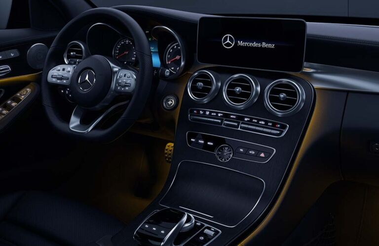 Cockpit view of the 2019 Mercedes-Benz C-Class