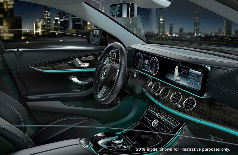 Interior dashboard of the 2018 Mercedes-Benz E-Class